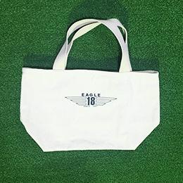 東京 ゴルフ レッスン 桑田泉 EAGLE18 オリジナルグッズ トートバッグ 白